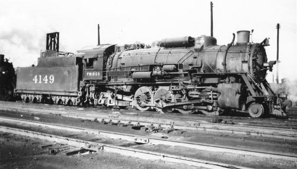 2-8-2 4149 at Springfield, Missouri on July 9, 1948 (Arthur B. Johnson)