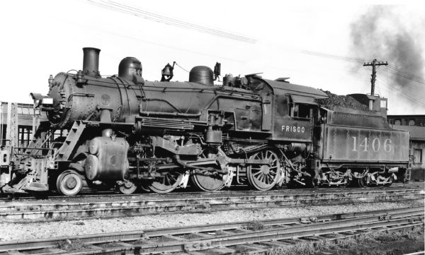 4-6-0 1406 at St. Louis, Missouri in August 1943 (Joe Collias)