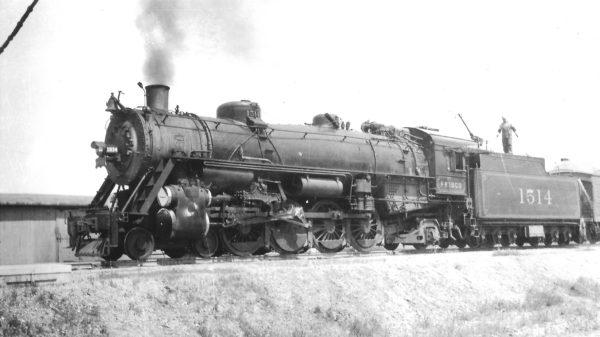4-8-2 1514 at Claremore, Oklahoma on May 14, 1944 (Arthur B. Johnson)