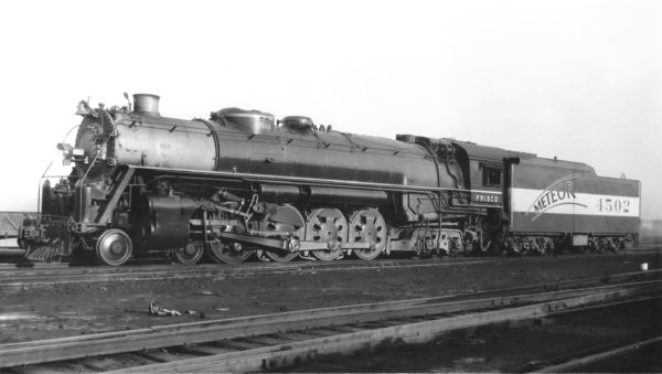 4-8-4 4502 at St. Louis, Missouri (date unknown) (Joe Collias)