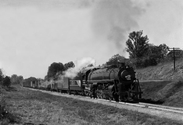 4-8-4 4503 on Train #38 (2nd Section) at Kirkwood, Missouri in 1942