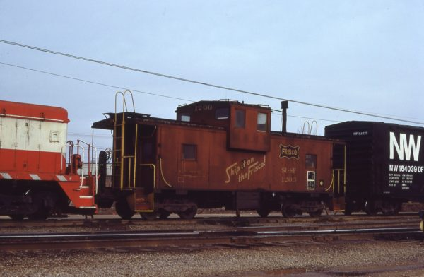 Caboose 1200 at Memphis, Tennessee on January 17, 1980