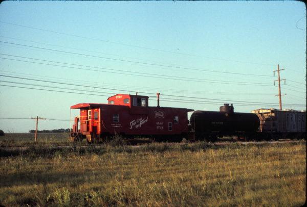 Caboose 1724 at Wichita, Kansas on August 5, 1975