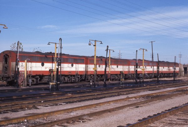F9Bs 145, 152, 144, and 149 at St. Louis, Missouri in December 1974