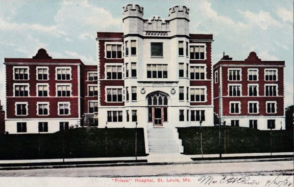 Frisco Hospital, St. Louis, Missouri (Postcard)