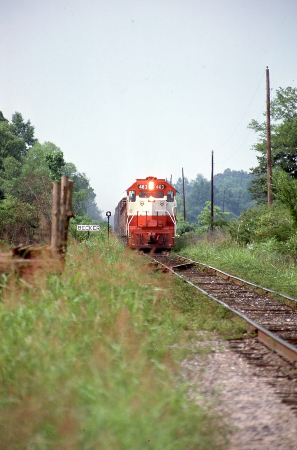 GP38-2 463 at Becker, Mississippi in June 1977