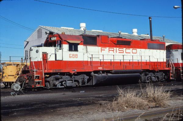 GP38-2 688 at Oklahoma City, Oklahoma on December 11, 1980 (Bill Bryant)