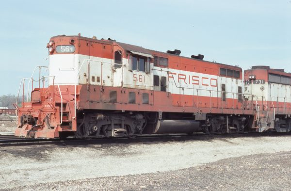 GP7 561 at Springfield, Missouri on April 8, 1978