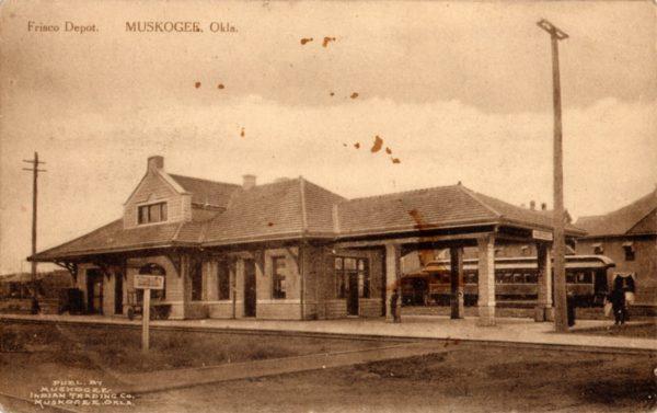 Muskogee, Oklahoma Depot (Postcard)