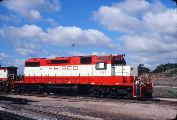 SD38-2 297 at Tulsa, Oklahoma in May 1980 (John Benson)