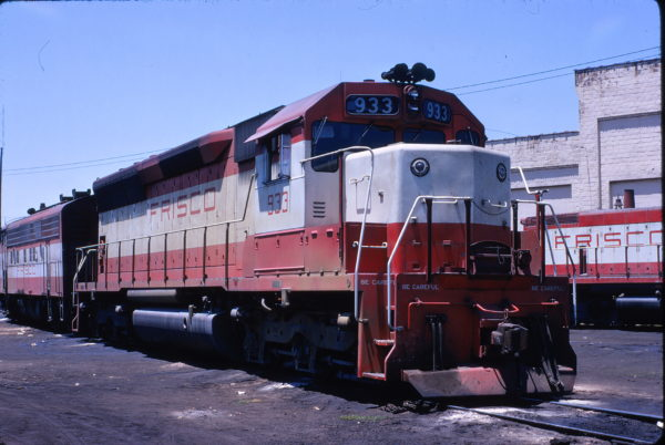 SD45 933 at Birmingham, Alabama on May 21, 1971 (W.B. Folsom)
