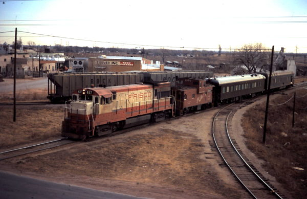 U30B 837 and Caboose 1272 at Oklahoma City, OK (date unknown)