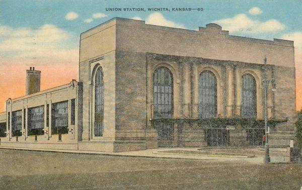 Union Station, Wichita, Kansas (Postcard)
