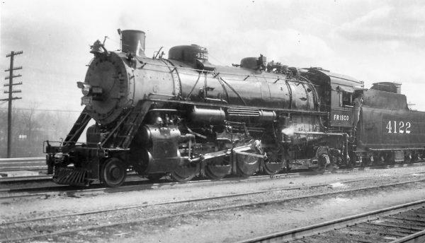 2-8-2 4122 at Tulsa, Oklahoma on July 20, 1947 (Arthur B. Johnson)