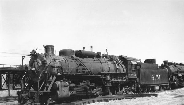 2-8-2 4151 at Tulsa, Oklahoma on May 22, 1949 (Arthur B. Johnson)