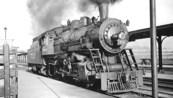 4-6-0 713 at Springfield, Missouri on May 9, 1948 (Arthur B. Johnson)