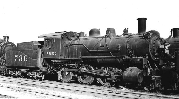 4-6-0 736 at Springfield, Missouri on October 11, 1934 (Arthur B. Johnson)