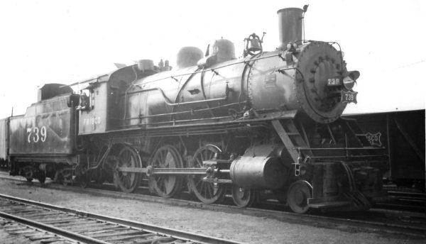 4-6-0 739 at Springfield, Missouri on April 10, 1948 (Arthur B. Johnson)