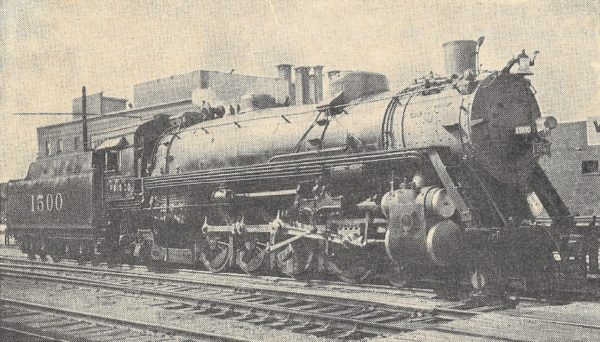 4-8-2 1500 at Tulsa, Oklahoma with the Will Rogers bound for St. Louis (D.W. Eldridge)