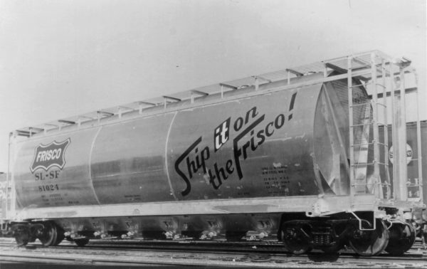 ACF Cylindrical Hopper 81024 new in August 1962 (Frisco Photo)