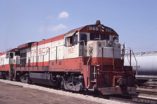 B30-7 865 at Kansas City. Missouri on April 18, 1980 (J.C. Benson)