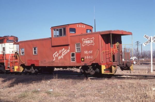 Caboose 1442 at Columbus, Kansas on December 15, 1978 (George Cheatwood)