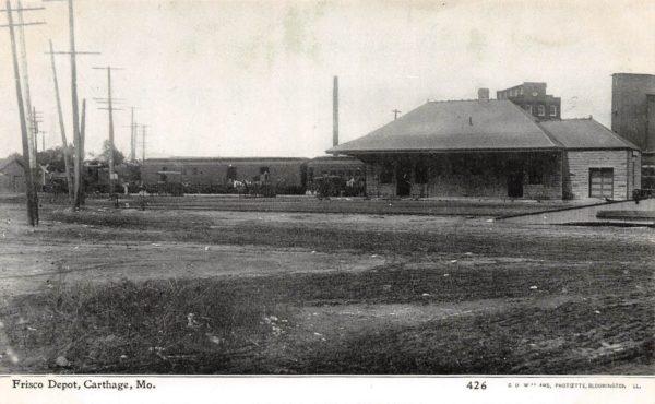 Carthage, Missouri Depot (Postcard)