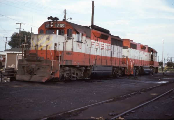 GP35 716 and GP38-2 447 at Pensacola, Florida on August 16, 1977