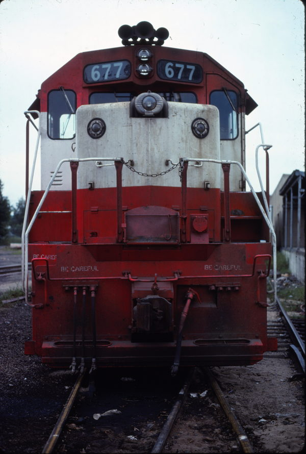 GP38-2 677 (location unknown) in August 1978