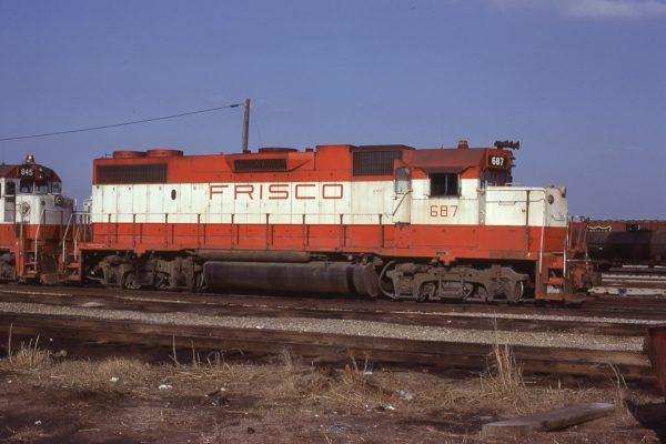 GP38-2 687 at Tulsa, OK on on April 4, 1978