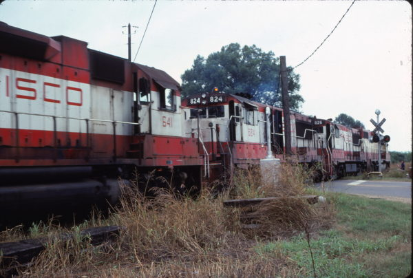 GP38AC 641, and U25Bs 824 and 826 (location unknown) in July 1978