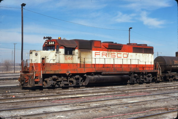 GP38AC 644 at Oklahoma City, Oklahoma on March 5, 1978 (James Holder)