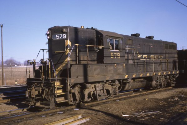 GP7 579 (location unknown) in March 1970