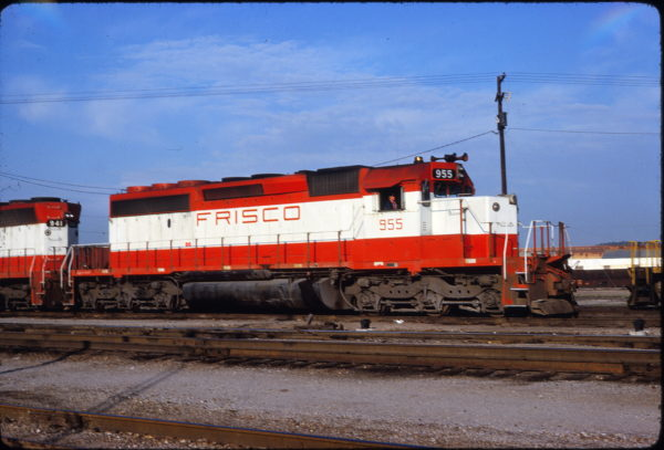 SD40-2 955 at Tulsa, Oklahoma on May 20, 1980 (George Horna)