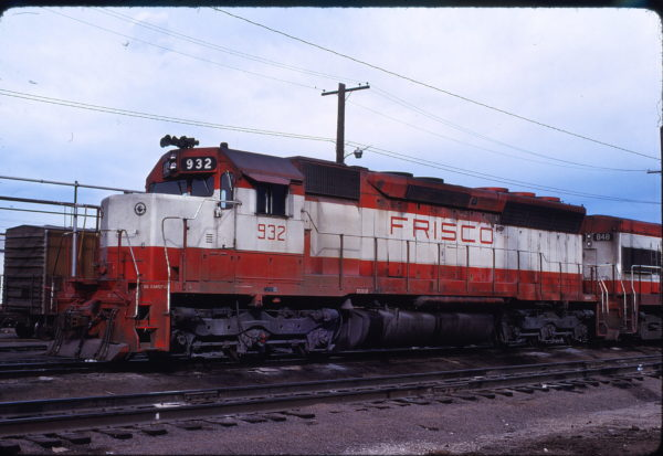 SD45 932 in Union Pacific Pool Service at Denver, Colorado on November 25, 1977