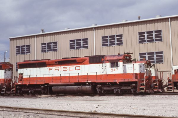 SD45 947 at Tulsa, Oklahoma on May 16, 1980 (Bob Graham)