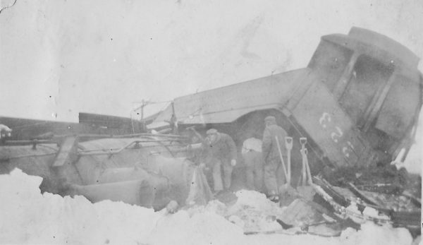 The Wreck of 4-4-0 223 at Keighley, Kansas in 1918