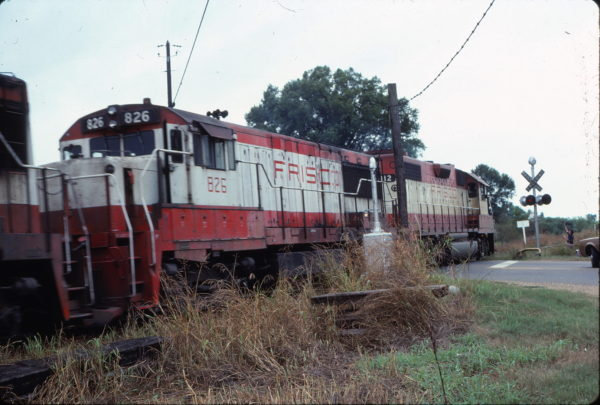 U25B 826 and GP38-2 412 (location unknown) in July 1978