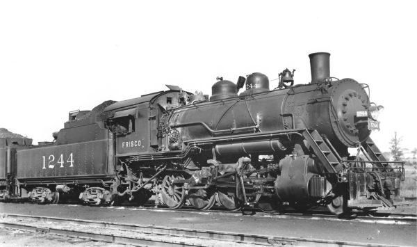 2-8-0 1244 at Birmingham, Alabama on May 22, 1948 (Robert J. Foster-Charles Felstead)