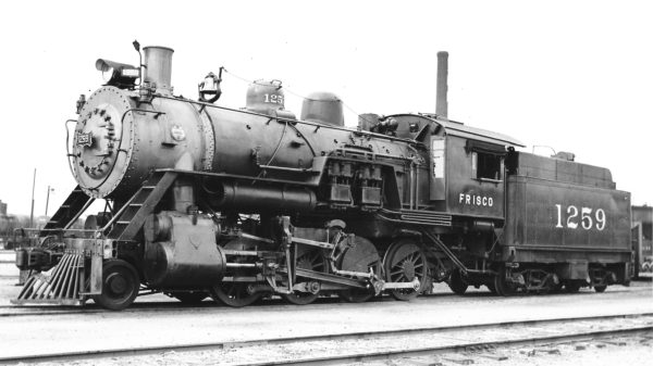 2-8-0 1259 at Enid, Oklahoma in June 1938 (Robert J. Foster-Charles Felstead)