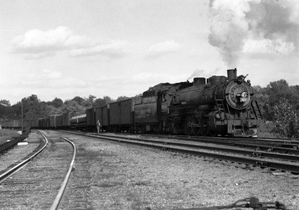 2-8-2 4012 Southbound at Southeastern Junction, St. Louis, Missouri in June 1943 (William K. Barham)