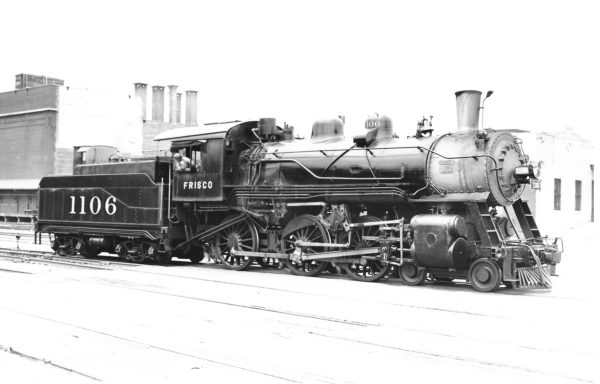 4-6-0 1106 at Tulsa, Oklahoma on June 28, 1946 (Richard Kindig-Charles Felstead)