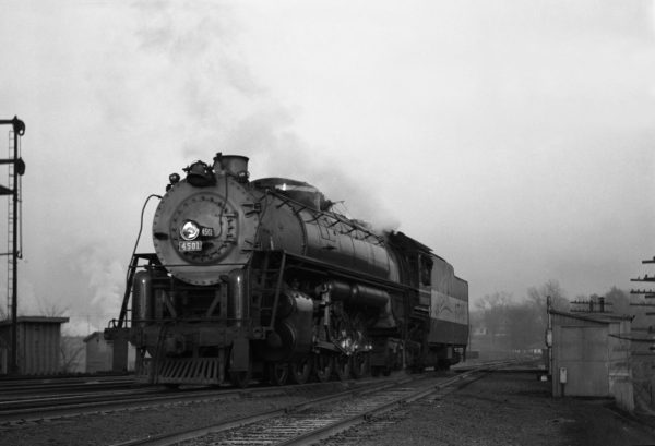 4-8-4 4501 New at Southeastern Junction, St. Louis, Missouri in October 1942 (William K. Barham)