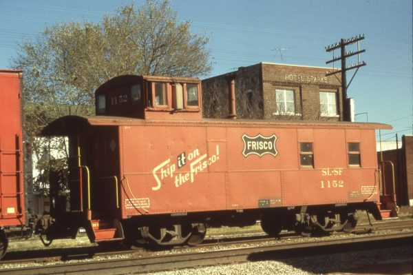 Caboose 1152 at Okmulgee, Oklahoma in September 1973