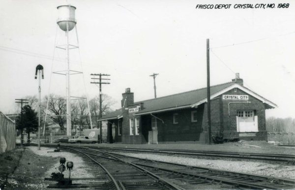 Crystal City, Missouri Depot in 1968 (Postcard)