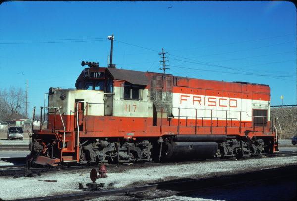 GP15-1 117 at Springfield, Missouri on January 17, 1981 (John Benson)