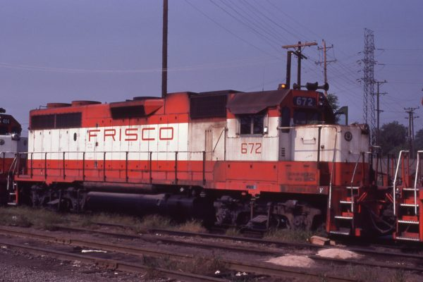 GP38-2 672 at St. Louis, Missouri on August 30, 1980 (Ron Burton)