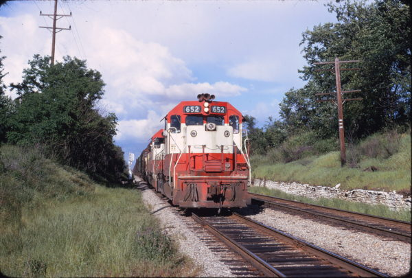 GP38AC 652 (location unknown) in May 1973