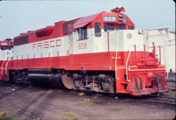 GP38AC 658 (location unknown) in August 1971 (Robert Olsesski)