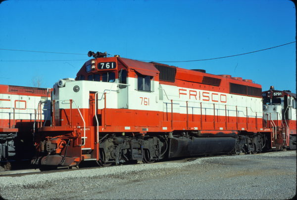 GP40-2 761 at Memphis, Tennessee in January 1981 (Lon Coone)